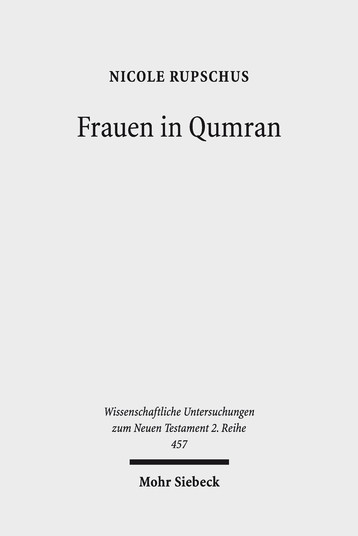 Cover: Frauen in Qumran